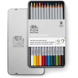 Studio Collection 12 crayons de couleur - Winsor & Newton