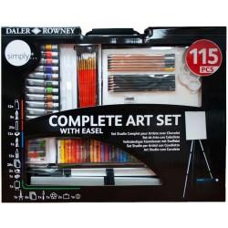 Coffret Complet de peinture avec chevalet 115 pièces - Daler Rowney