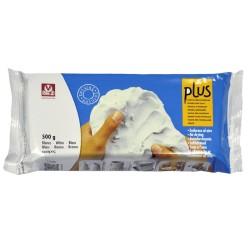 Pâte Autourcrissante à l'air pâte de 500gr Blanc - Plus
